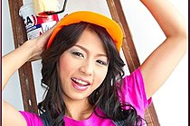 Painter Naomi Chatee Stripping By Ladder And Posing Nude