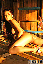 Thai Pussy Lying On Bench