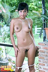 Naked With Panties Pulled Down Round Tits Trimmed Bush