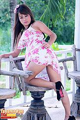 Raising Hem Of Dress In High Heels