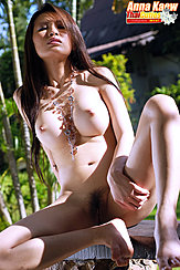 Seated Nude Head Thrown Back Legs Open Showing Her Pussy Bare Feet