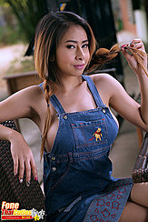 Seated In Dungarees