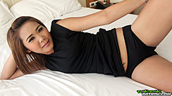 Lying On Bed Leg Raised Wearing Panties