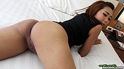 Lbfm Lying On Bed Looking Back Nice Ass